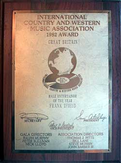 International Country and Western Music Association - 1982 Award