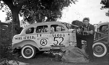 Frank with his Scoda stock car