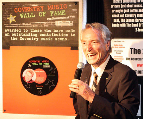 Frank Ifield is inducted in to The Coventry Music Wall of Fame